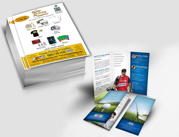 10% off short run flyers/brochures