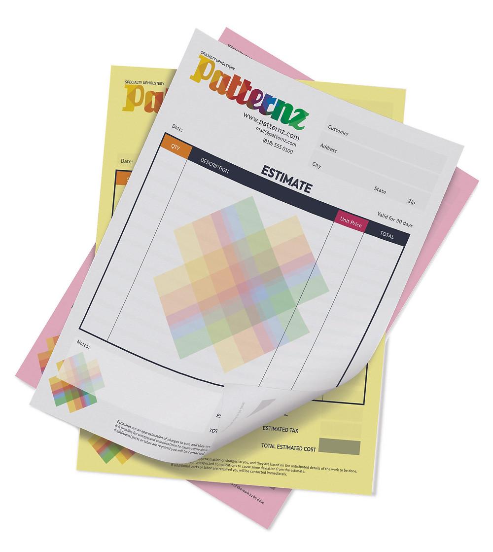 NCR, pad sheet, pad form