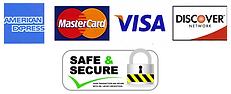 paypal, credit cards, checks