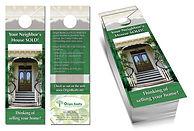marketing items, door hangers, flyers