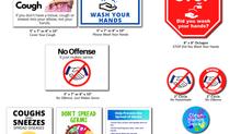 Pre-printed Hygiene Labels