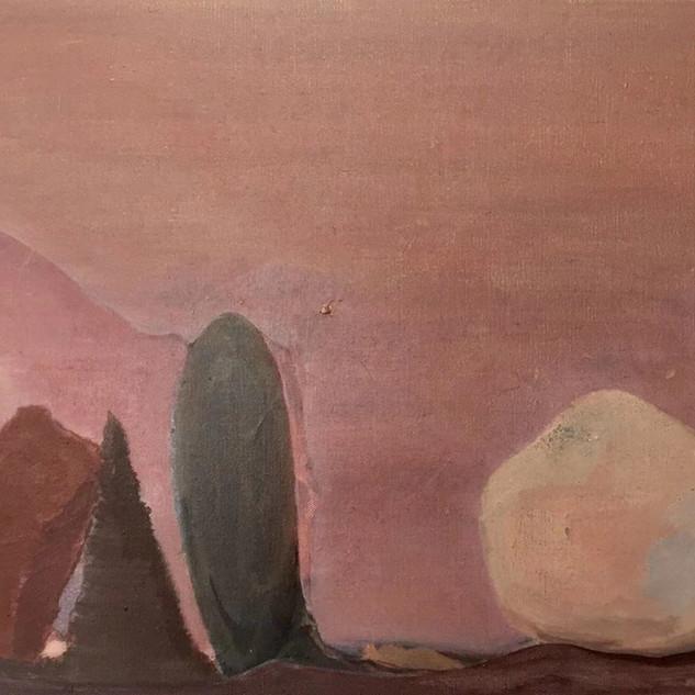 《石头与树》 56x70cm 布面丙烯 2019.jpg