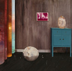 《有佛头的房间》规格:180X250cm材料:布面炳烯创作年代:2015年.jp