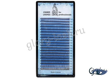 Ресницы васильковые (sky blue) Lovely - 20 линий -