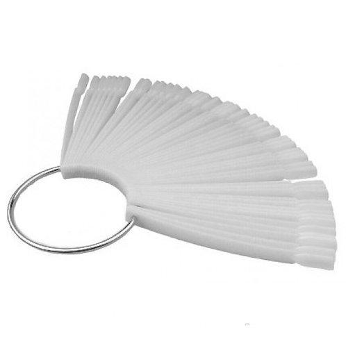 Типсы демонстрационные белые на кольце 50шт