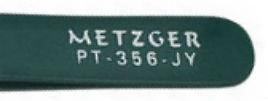 Пинцет скошенный зеленый: PT-356-GR