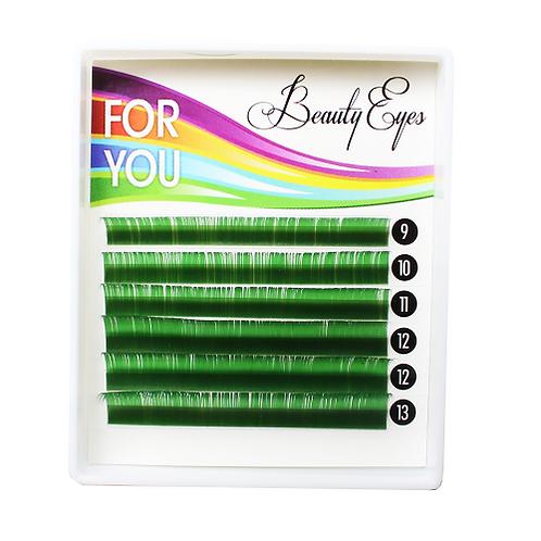 Ресницы For You Standart зеленые