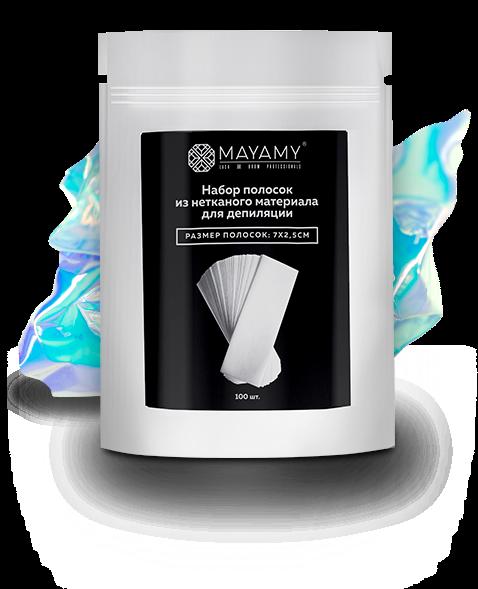 Набор полосок из нетканого материала для депиляции MAYAMY, 7х2.5, 100шт