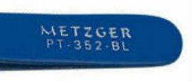Пинцет скошенный синий: PT-352-BL