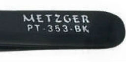 Пинцет скошенный черный: PT-353-BK