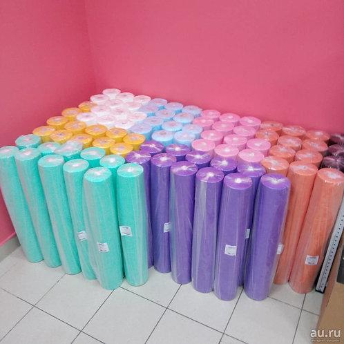 Цветные простыни в рулоне 70*200  100шт