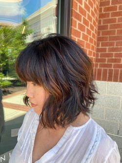 Textured Layers Bob with Baby Balayage