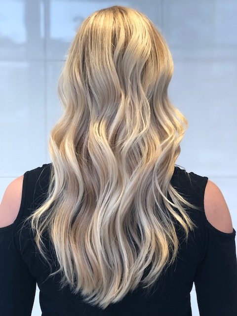 Cool Blonde Highlights with Color