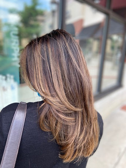 Balayage with Long Layer Cut