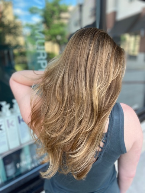 Natural Balayage with Long Layered Cut