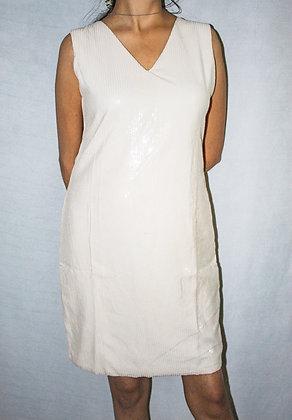 WHITE SHIMMER DRESS