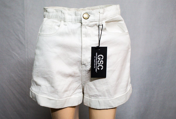 WHITE SHORT - JEANS STYLE