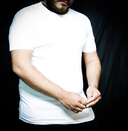 WHITE T-SHIRT ( HALF SLEEVES )