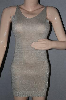 WHITE GLITTER BODYCON DRESS