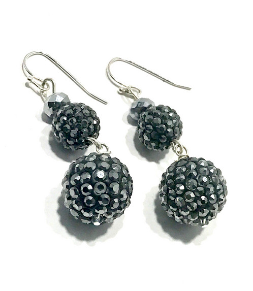 silver shape marcasite earrings hematite product sterling signed diamond img