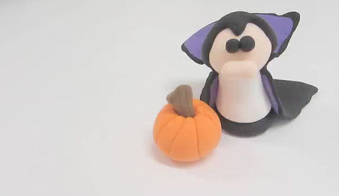 DIY Clayrazy Kit - Halloween Dracula & pumpkin tutorial