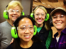 Smiling faces after a great morning on the range. These women were a blast to get to know and teach.