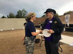 Donna receives Top Gun challenge coin
