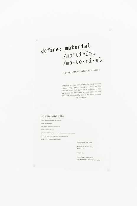 define: material poster