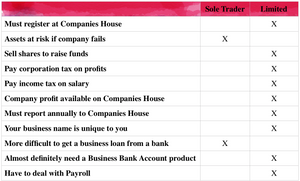 Sole Trader vs Limited Company Comparison