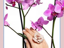 Micro Pave Diamond Flower Ring