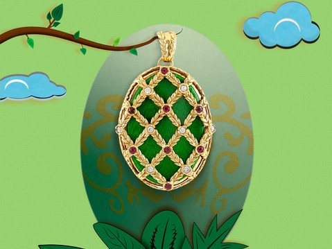 Faberge egg Easter style