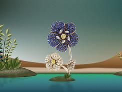 Cartier brooch in an oasis