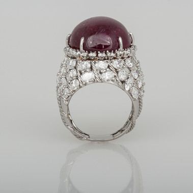 Star Ruby ring before