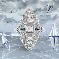 Filigree Ring after in graphics