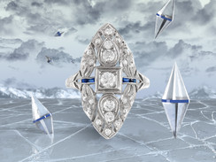 Ice Coned. Filigree Ring