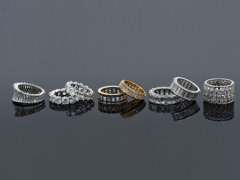Wedding Band Collection. Jewelry photography