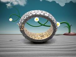 Diamond Cuff Bracelet in Bloom