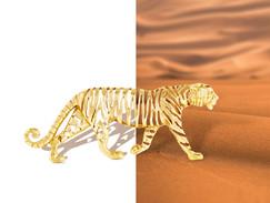 Tiger brooch split