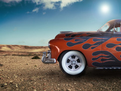 Hot rod in the sun