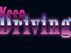 Keep Driving - Retro, Old-School, Logo Typography
