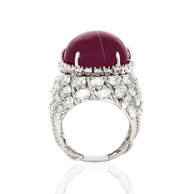Star Ruby ring after