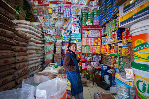 Shop assistant in Cusco