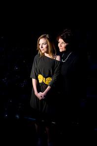 Jolanta Kwasniewska with daughter