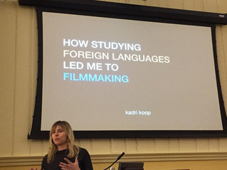 Giving a talk at Washington College