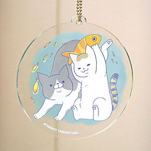 『うちの猫』アクリルキーホルダー・おさかな
