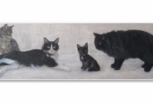 Čimi cat painter ポストカード「Majky, Matus, Zuzi, Neko」