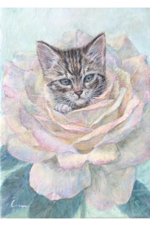 Cimi cat painter ポストカード「USKO(ウシュコ)」
