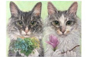 Cimi cat painter ポストカード「Kazetosuzu」