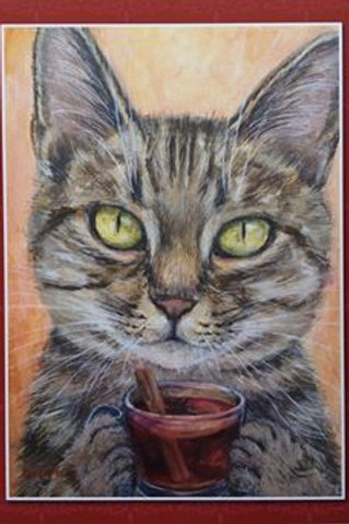 Cimi cat painter ポストカード「Viktor(ヴィクトル)」