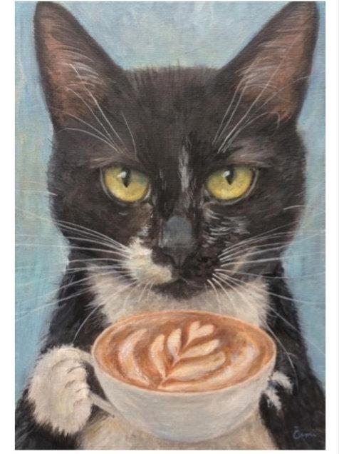 Cimi cat painter ポストカード「Tuc(トゥツ)」